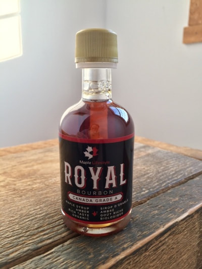 0a03082a294 ... 50 ml Bourbon Barrel-Aged Organic Maple Syrup. This is such a beautiful  little bottle full of incredible